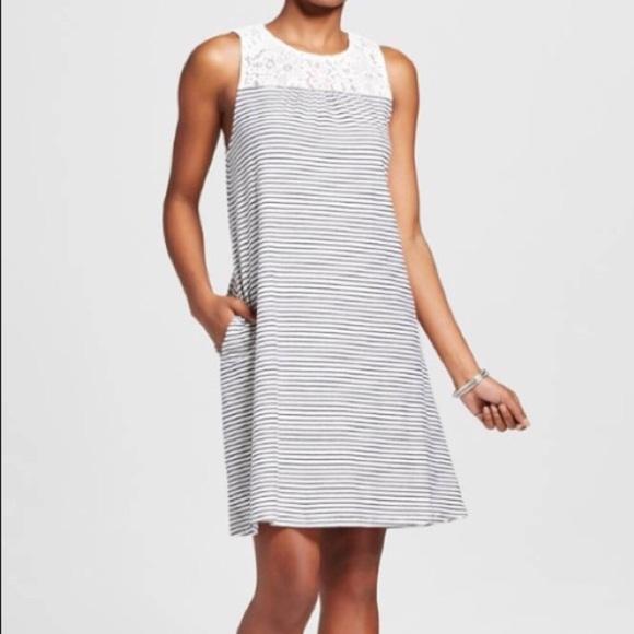 9555aabb1e81 Pocketed Merona Striped Dress. M_5b8f1aa00945e00c0d2501cc